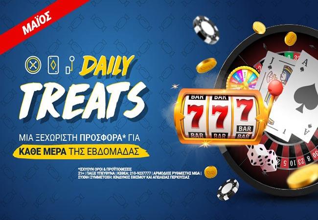 Daily Treats: Σούπερ προσφορές* στο Casino του Stoiximan κάθε μέρα!