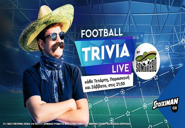 """Football Trivia Live by El Sombrero"" στο Stoiximan και τον Μάιο!"